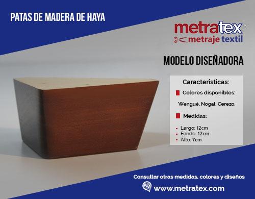 Patas de madera modelo diseñadora