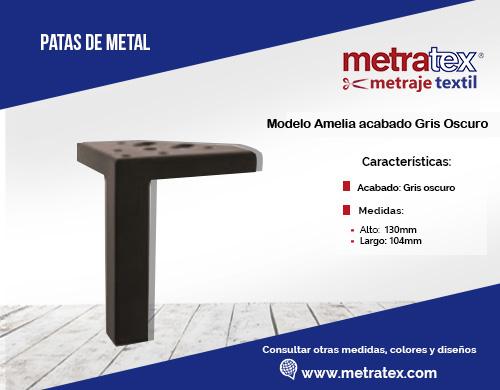 patas metalicas modelo amelia acabado gris oscuro