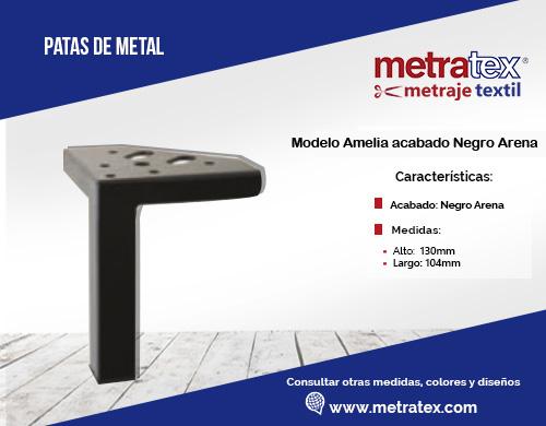 patas metalicas modelo amelia acabado negro arena