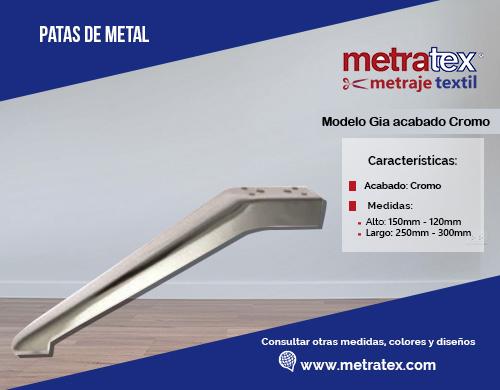 patas metalicas modelo gia acabado cromo