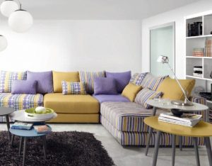 color de tela para el sofá